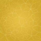 Linee dorate floreali senza cuciture carta da parati illustrazione di stock