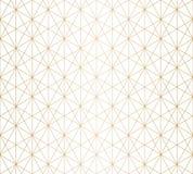 Linee dorate modello Oro sottile e struttura senza cuciture geometrica bianca di griglia illustrazione di stock