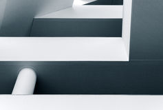 Linee e forme astratte di architettura moderna Immagine Stock