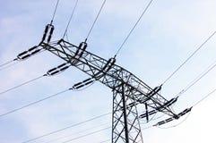 Linee elettriche Fotografia Stock