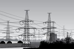 Linee elettriche. Fotografia Stock