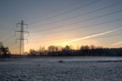 Linee elettriche Fotografia Stock Libera da Diritti