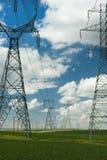 Linee elettriche ad alta tensione Fotografia Stock Libera da Diritti