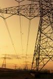 Linee elettriche ad alta tensione Fotografia Stock