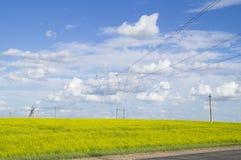 Linee elettriche ad alta tensione di sostegno Immagine Stock Libera da Diritti