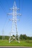 Linee elettriche ad alta tensione di sostegno Fotografie Stock