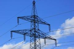 Linee elettriche all'aperto Fotografia Stock Libera da Diritti