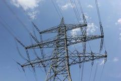 Linee elettriche all'aperto Fotografie Stock