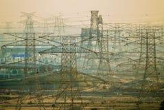 Linee elettriche arabe Immagini Stock