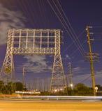 Linee elettriche in città Fotografia Stock