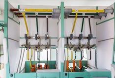 Linee elettriche del collegamento Immagine Stock