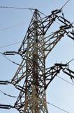 Linee elettriche di alta tensione e dell'albero Fotografia Stock Libera da Diritti