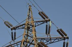 Linee elettriche di sostegno Immagine Stock Libera da Diritti