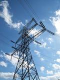 Linee elettriche e pilone Fotografia Stock