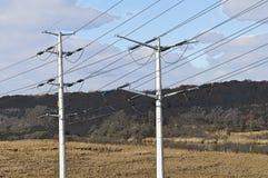 Linee elettriche parallelamente immagine stock libera da diritti