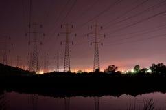 Linee elettriche torri #9 Fotografia Stock