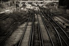 Linee ferroviarie immagine stock
