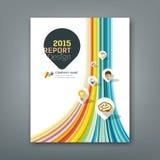 Linee forme variopinte rapporto della copertura infographic Fotografia Stock