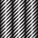 Linee geometriche astratte con le bande diagonali in bianco e nero Pendenza nera Illustrazione di vettore Fotografia Stock