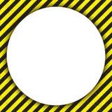 Linee geometriche astratte, con un nero diagonale e giallo, con un cerchio Illustrazione di vettore Immagini Stock