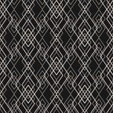 Linee geometriche modello di vettore Struttura senza cuciture geometrica sottile con la griglia illustrazione vettoriale