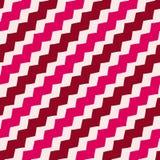 Linee geometriche modello di zigzag di vettore Ornamento a strisce astratto rosso e bianco royalty illustrazione gratis
