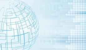 Linee globali di forma con i piccoli quadrati e le cifre sbiadite royalty illustrazione gratis