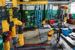 Linee industriali del tubo Fotografie Stock