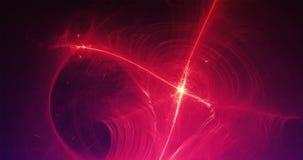 Linee leggere e curve del fondo astratto con le particelle Fotografie Stock