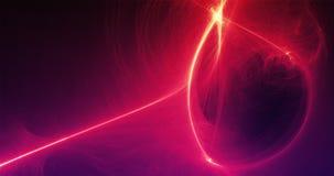 Linee leggere e curve del fondo astratto con le particelle Immagine Stock Libera da Diritti