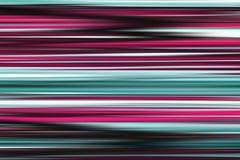 Linee luminose astratte variopinte fondo, struttura a strisce orizzontale nei toni porpora e ciano illustrazione di stock