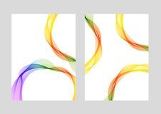 Linee modelli moderni di progettazione della copertura Fotografia Stock