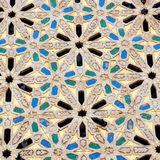 Linee    in morocco africa old tile and colorated floor ceramic abst Stock Images