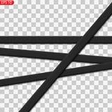 Linee nere e gialle di cautela isolate illustrazione vettoriale