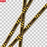 Linee nere e gialle di cautela isolate royalty illustrazione gratis