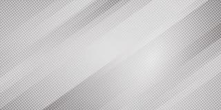 Linee oblique astratte fondo di colore grigio e bianco di pendenza delle bande e stile di semitono di struttura dei punti Modello royalty illustrazione gratis