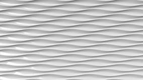 Linee ondulate di plastica grige rappresentazione 3d Immagine Stock