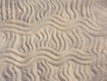 Linee ondulate nella sabbia Fotografia Stock Libera da Diritti