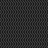 Linee ondulate sottili verticali modello senza cuciture di vettore Geometrico scuro illustrazione di stock