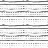 Linee orizzontali disegnate a mano Reticolo senza giunte Immagini Stock Libere da Diritti