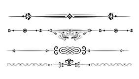 Linee ornamentali di regola Fotografia Stock