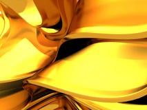 Linee regolari fondo dell'oro astratto del liquido Fotografia Stock Libera da Diritti