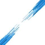 Linee rette blu cenni storici astratti. Vettore Fotografia Stock
