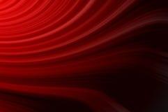 Linee rosse sottili astratte su un fondo nero Fotografia Stock