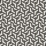 Linee senza cuciture modello di vettore Struttura astratta alla moda moderna Ripetizione delle mattonelle geometriche con gli ele illustrazione di stock