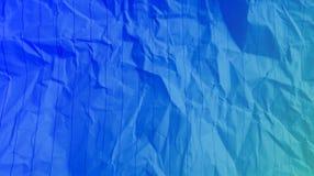 Linee sgualcite fondo blu delle bande di effetti di colori della miscela di colore degli azzurri di carta multi fotografia stock