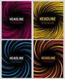 Linee a spirale di velocità di colore messe Disposizione di vettore per gli opuscoli di affari Fotografia Stock Libera da Diritti