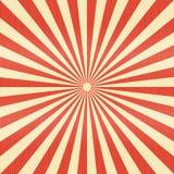 Linee a strisce carta del modello Il retro raggio ha scoppiato il backgr di colore rosso royalty illustrazione gratis
