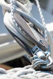 Linee su una barca a vela Fotografia Stock Libera da Diritti