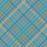 Linee trasversali senza cuciture modello di Madras Struttura senza cuciture diagonale come plaid di tartan in vari colori blu bei illustrazione vettoriale